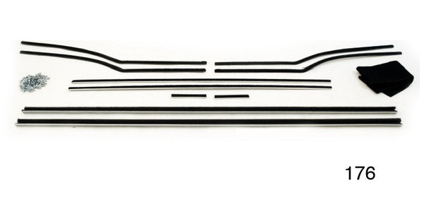 #176 1955-57 Chevy Convertible WINDOW FUR CHANNEL KIT
