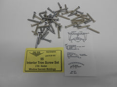 1955 Chevy #20-103 2 Door Sedan INTERIOR GARNISH MOULDING SCREW SET