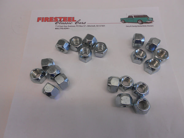 1955-57 Chevy #20-218  WHEEL LUG NUTS (Set of 20)