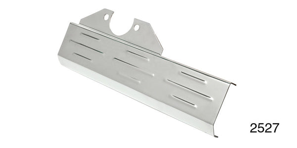 #2527   1955 -57 Chevy  Ribbed CHROME STEERING BOX COVER