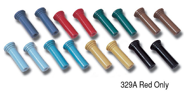 #329C   1955-57 Chevy PAIR  Dark Blue DOOR LOCK KNOBS