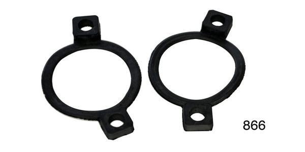 #866   1955 Chevy Bel Air Nomad 210 Pair  Rubber LICENSE LENS GASKETS