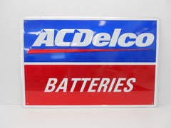 "AC DELCO Batteries Collector SIGN ""NOS"""