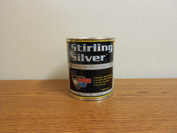 "#SSQ POR-15 Quart STERLING SILVER ""Medium Gloss Silver Top Coating"""