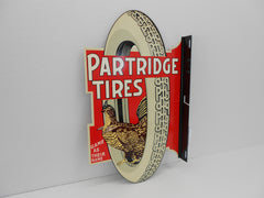 PARTIDGE TIRES Vintage heavy weight reproduction Sign