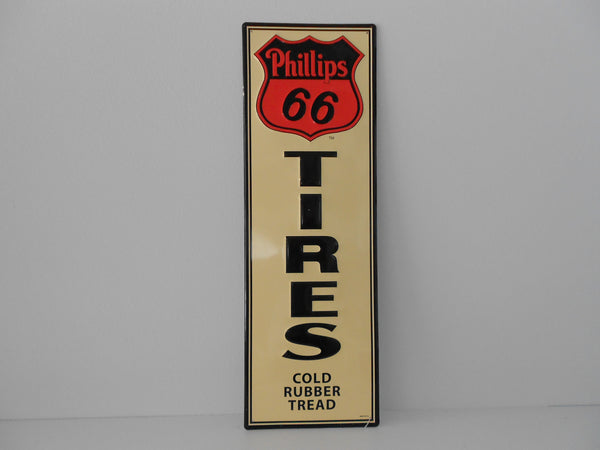 "PHILLIPS 66 ""Tires"" Aluminum Collector Sign"