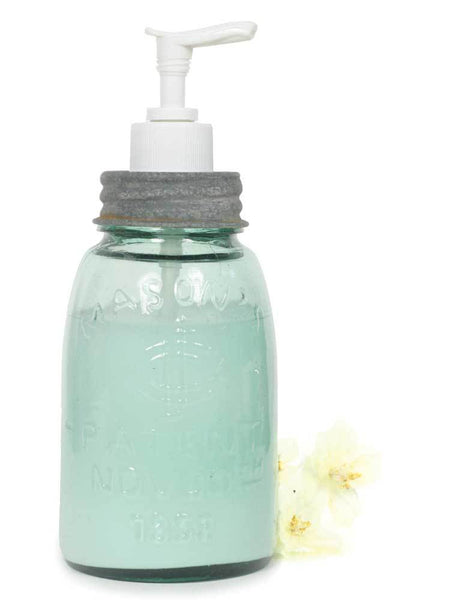 Midget Pint Mason Jar Soap/Lotion Dispenser - Barn Roof