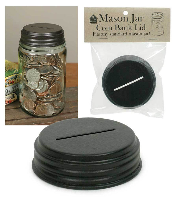 Coin Bank Mason Jar Lid - Box of 4