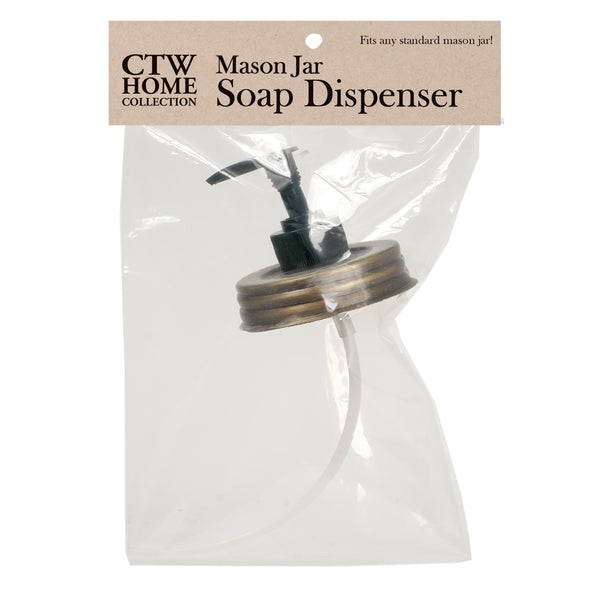 Set of 4 Mason Jar Soap Dispenser Lids - Antique Brass