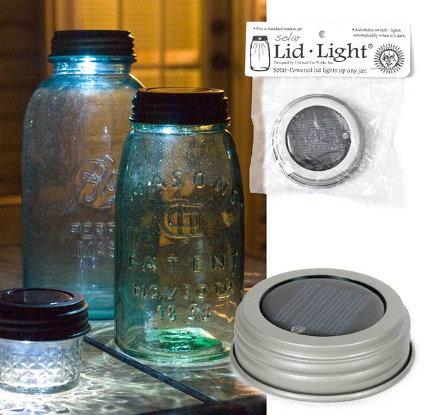 Solar Lid-Light - Silver Finish - Set of 4