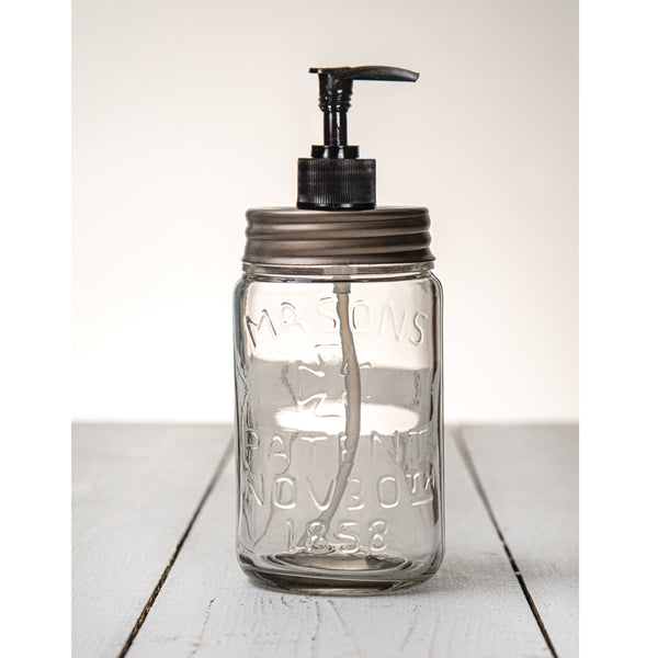 Pint Mason Jar Soap/Lotion Dispenser - Zinc