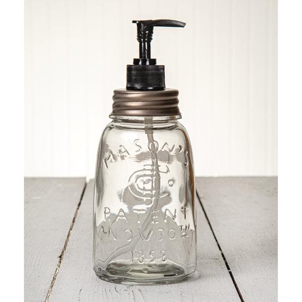 Midget Pint Mason Jar Soap/Lotion Dispenser - Zinc