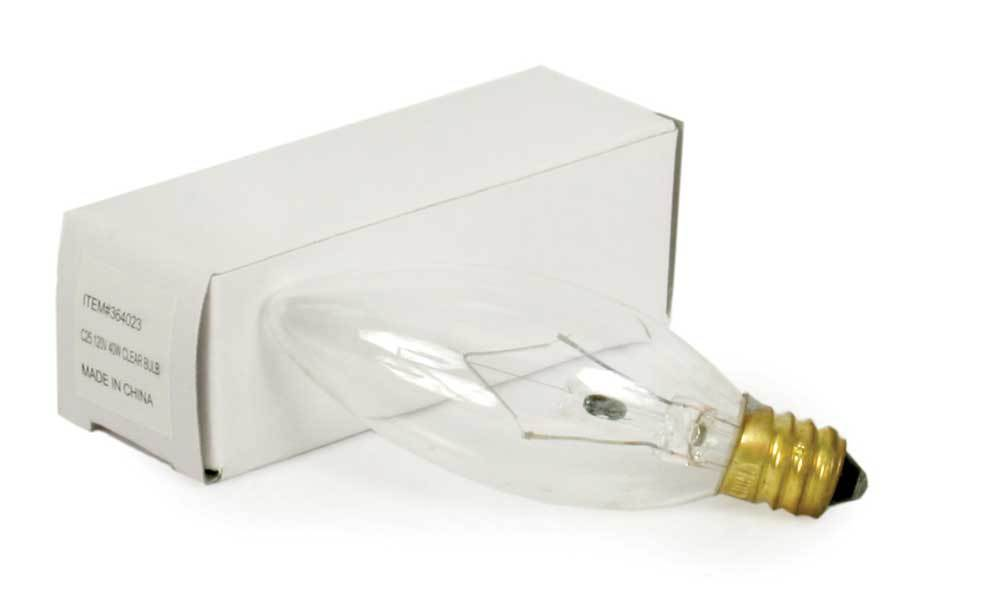 Short 25 Watt Light Bulb - Box of 25