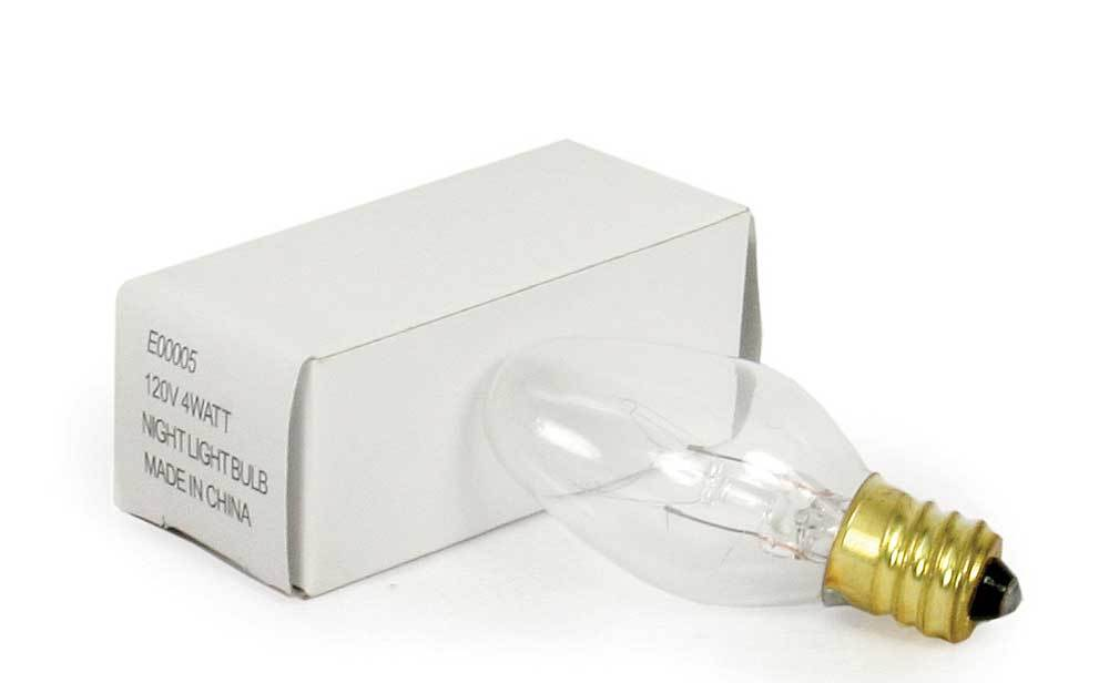 4 Watt Clear Night Light Bulb - Box of 25