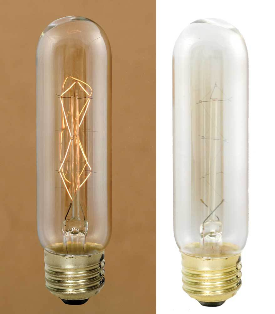 40 Watt 4 Vintage Style Stick Bulb With Diamond Filament