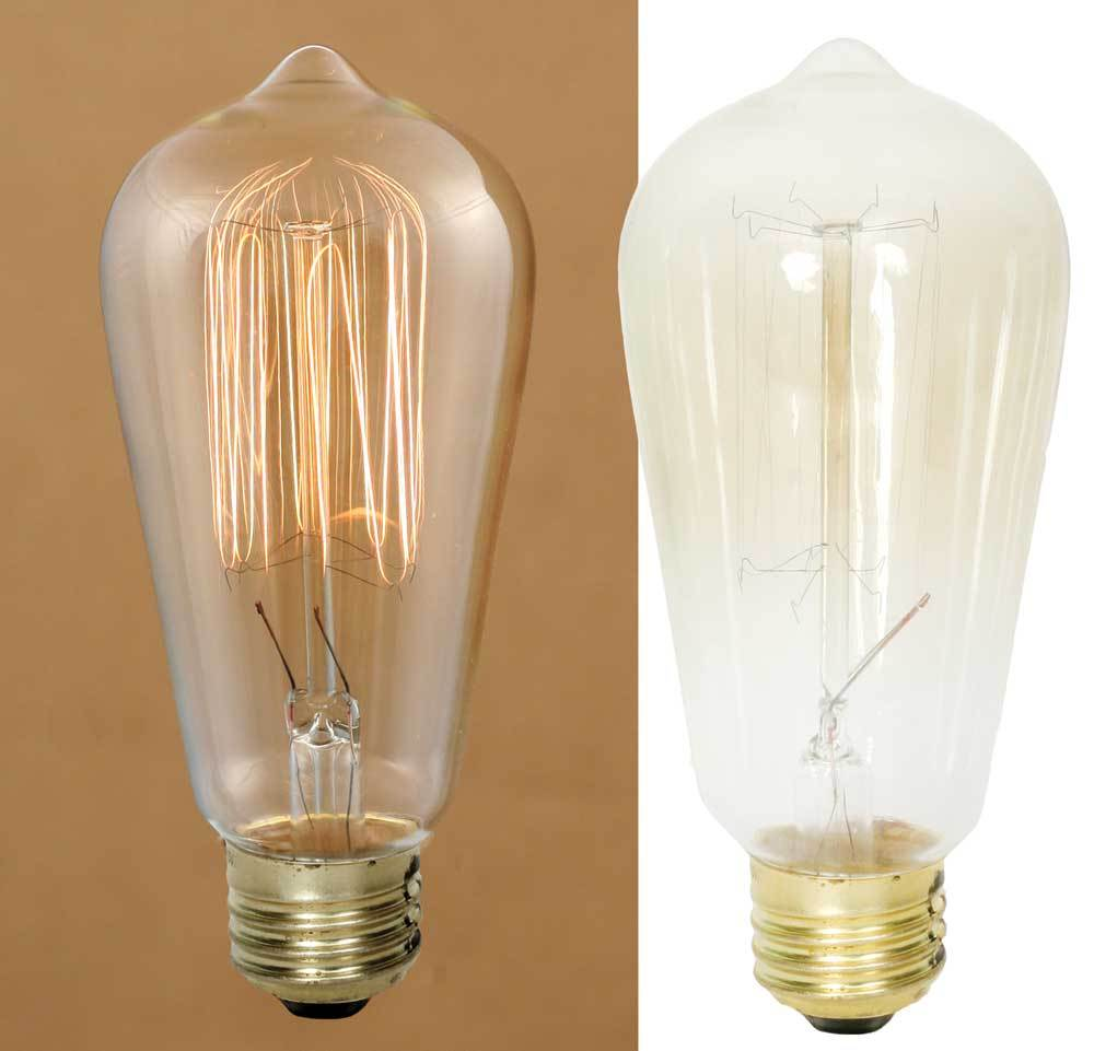 Large 40 Watt Vintage Light Bulb