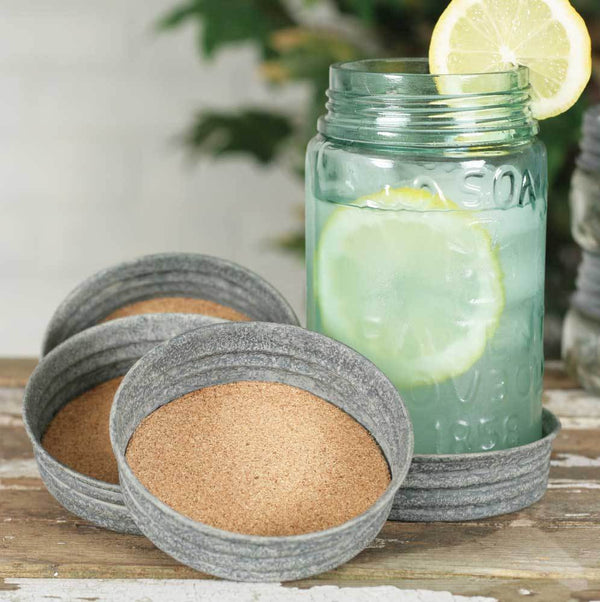 Mason Jar Lid Coaster - Barn Roof - Box of 4