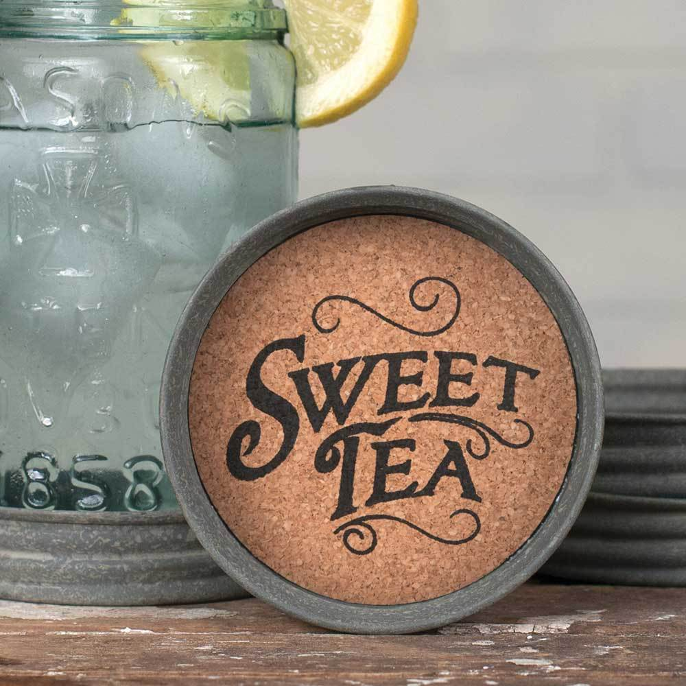 Mason Jar Lid Coaster - Sweet Tea - Box of 4