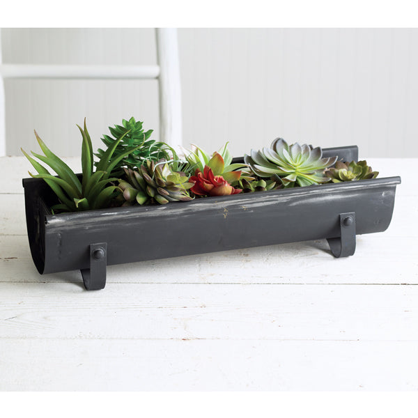Chicken Feeder Planter - Black