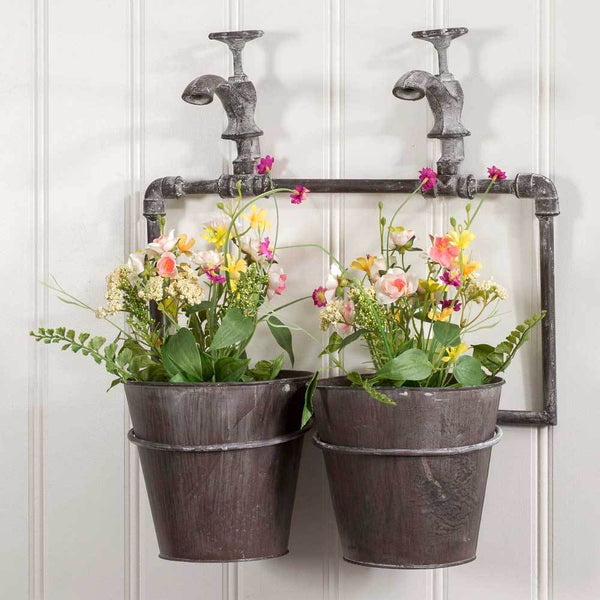 Two-Pot Wall Planter with Spigot