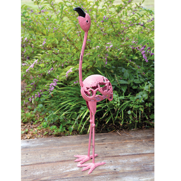 Large Cast Iron Flamingo Statue