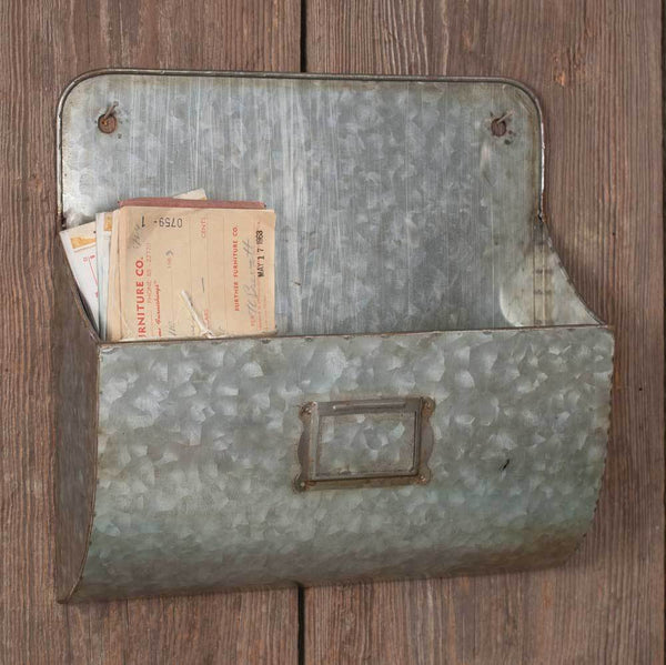 Galvanized Wall Pocket - Box of 2