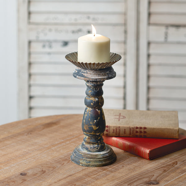 Small Distressed Candle Stand