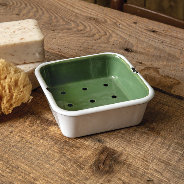 Green Square Soap Dish