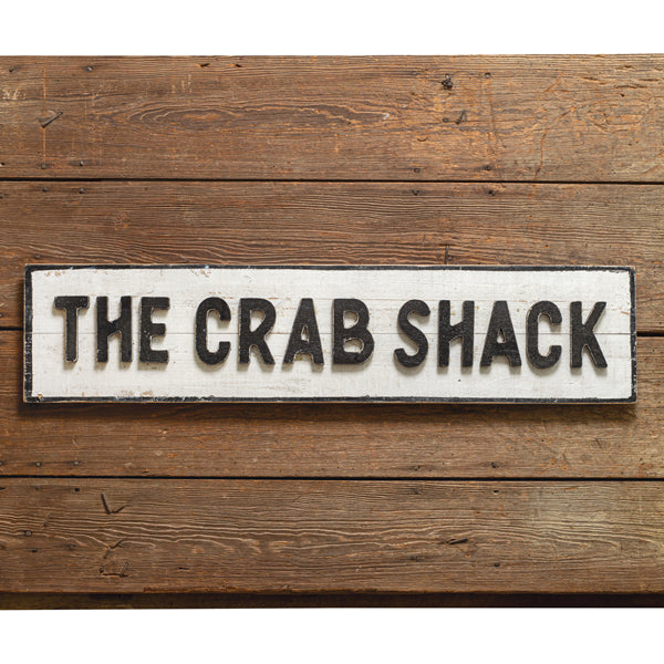Crab Shack Wood Wall Sign