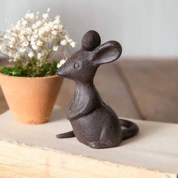 Set of 4 Cast Iron Mice