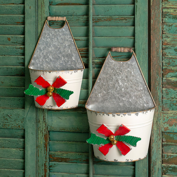 Set of Two Holiday Bow Caddies