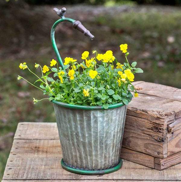 Garden Hose Tapered Planter
