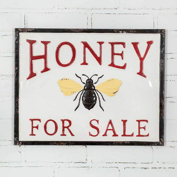 Honey for Sale Metal Sign