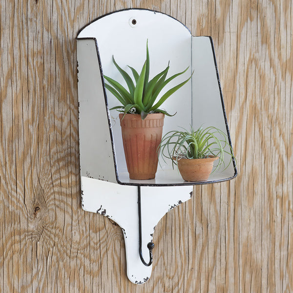Wall Sconce Shelf with Hook