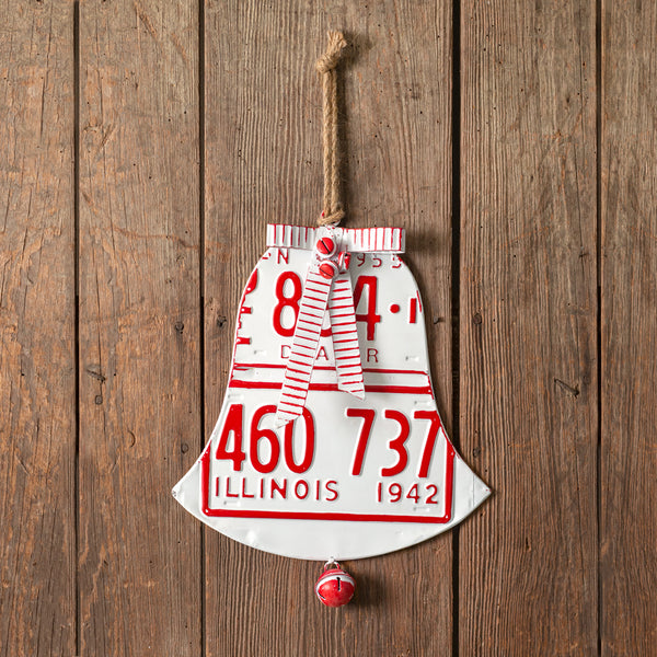 License Plate Holiday Bell