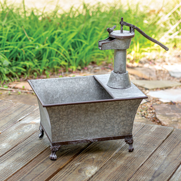 Galvanized Water Pump Planter