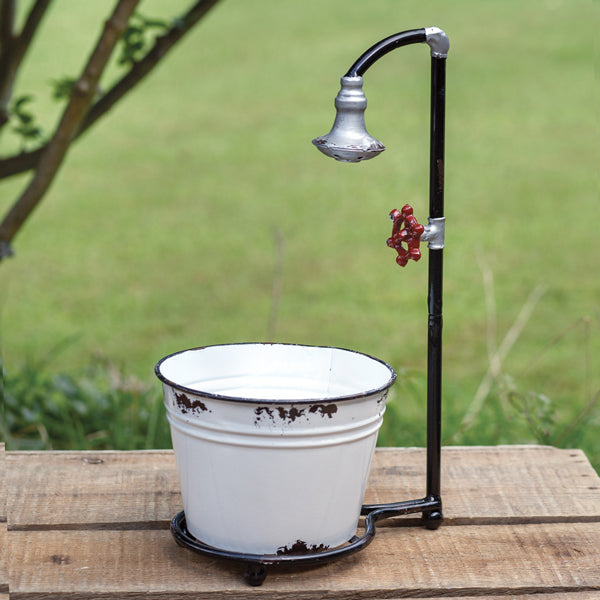 Water Spigot with Bucket