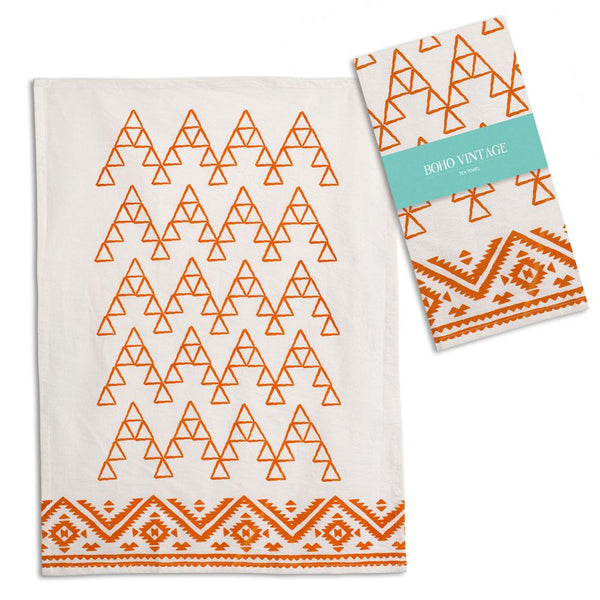 Set of 4 Saffron Tea Towels