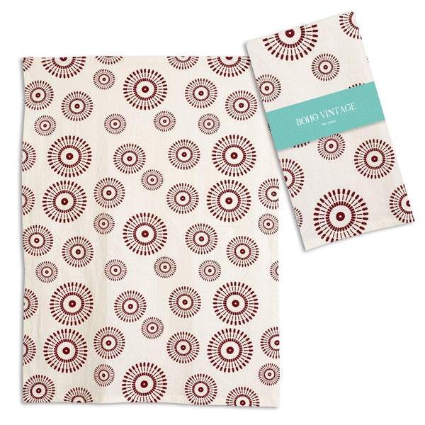 Set of 4 Ember Tea Towels