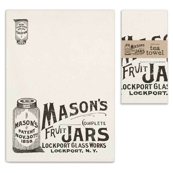 Set of 4 Mason Jar Tea Towels