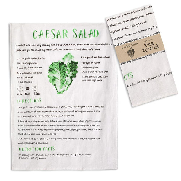 Set of 4 Caesar Salad Tea Towels