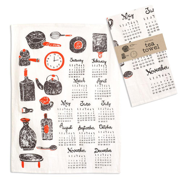 Kitchenware Calendar Tea Towel