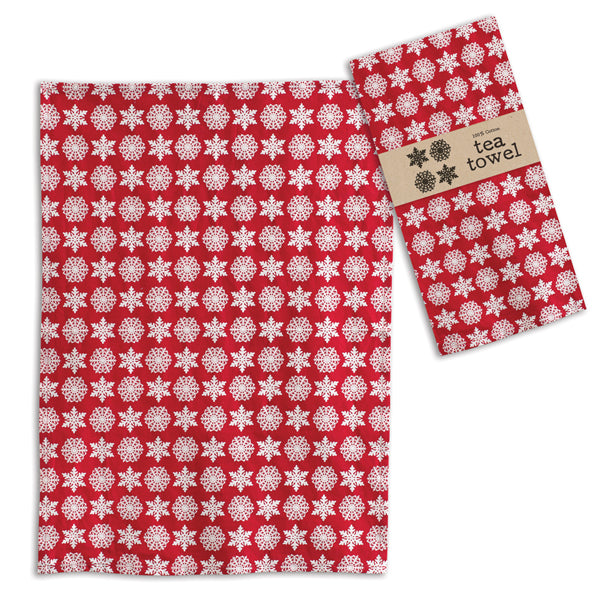 Snowflakes Tea Towel - Box of 4