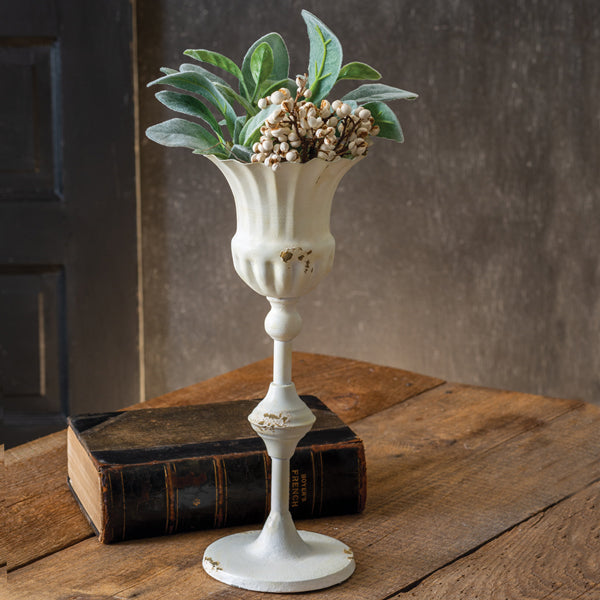 Tall Scalloped Cup with Base