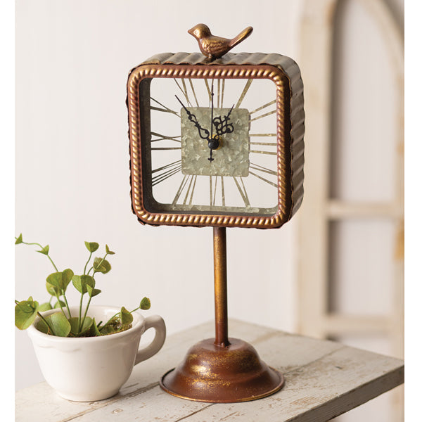 Roman Nurmeral Clock with Bird