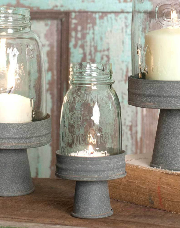 Mason Jar Chimney with Stand - Quarter Pint