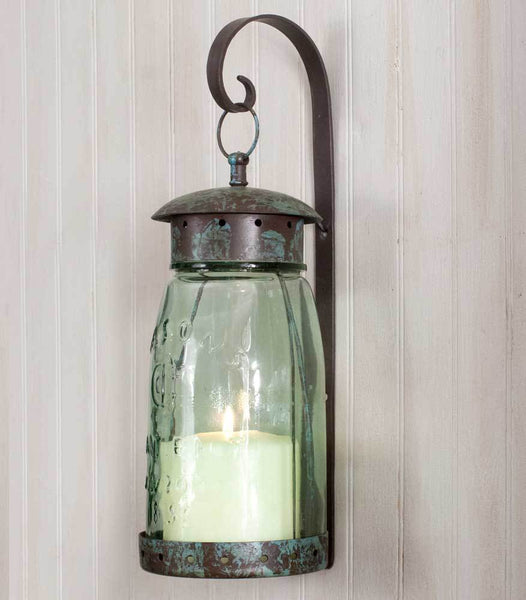 Quart Mason Jar Hanging Wall Sconce