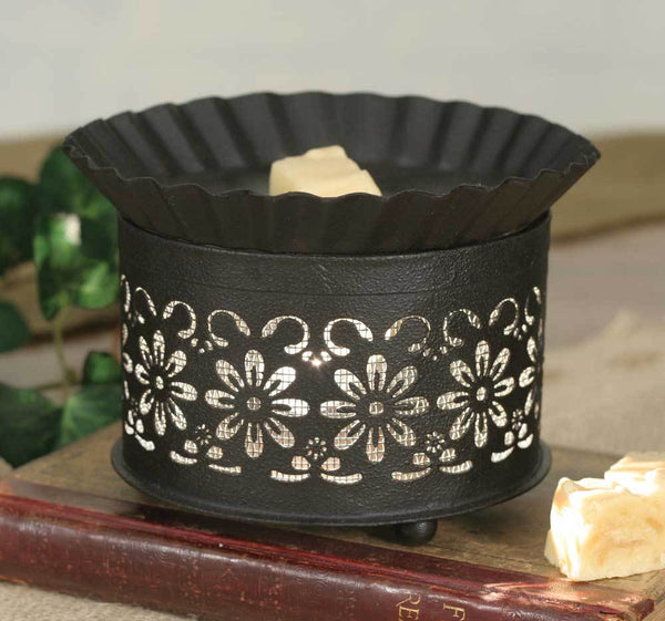 Short Round Wax Warmer - Daisy with Screen Insert
