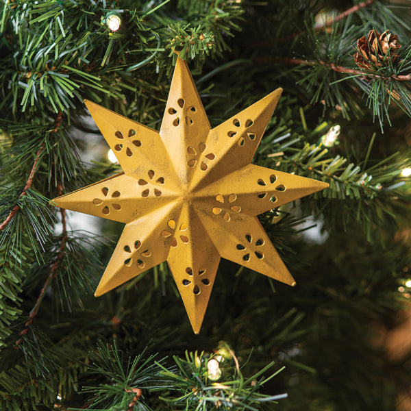 8 Point Star Ornament - Box of 3
