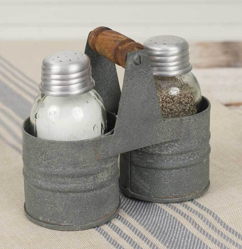 Set of 2 Salt and Pepper Can Caddies